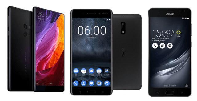 Nokia 6 / Asus ZenFone AR / The Xiaomi Mi Mix - All Features Listed (2017)