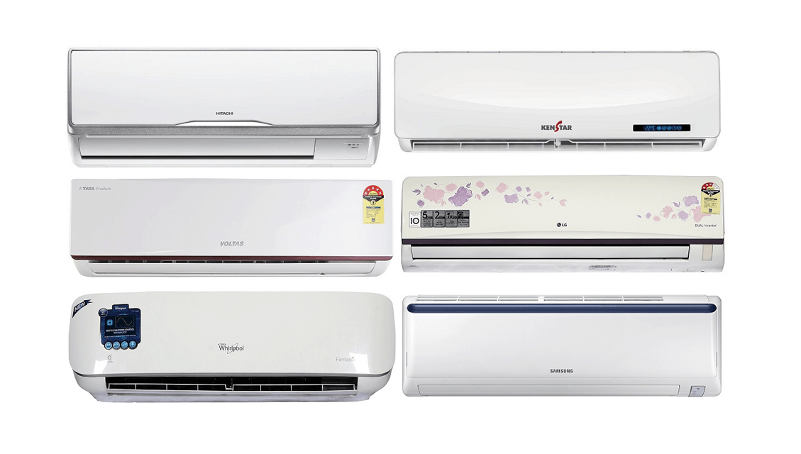 top 10 best rated split air conditioners to buy in india 2018. Black Bedroom Furniture Sets. Home Design Ideas