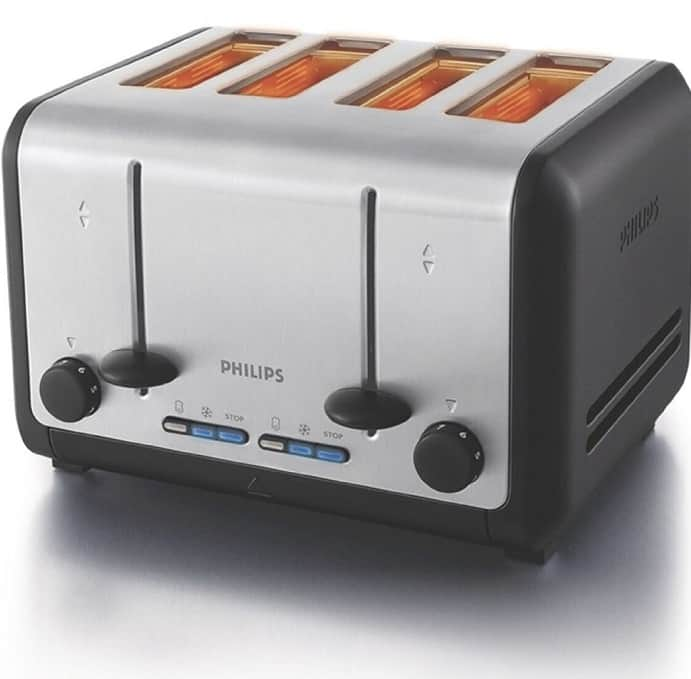 Philips HD2647/20 1800-Watt 4 Slice Toaster
