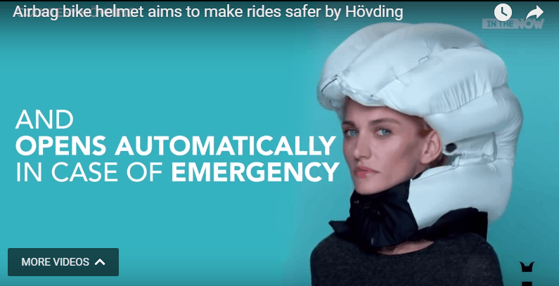 The Invisible Bike Helmet by Hovding Airbag for Urban Cyclists