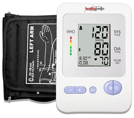 Healthgenie BPM02 Upper Arm Blood Pressure Monitor