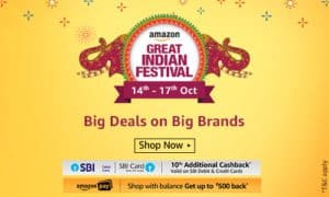 Amazon great Indian Festival offers and deals