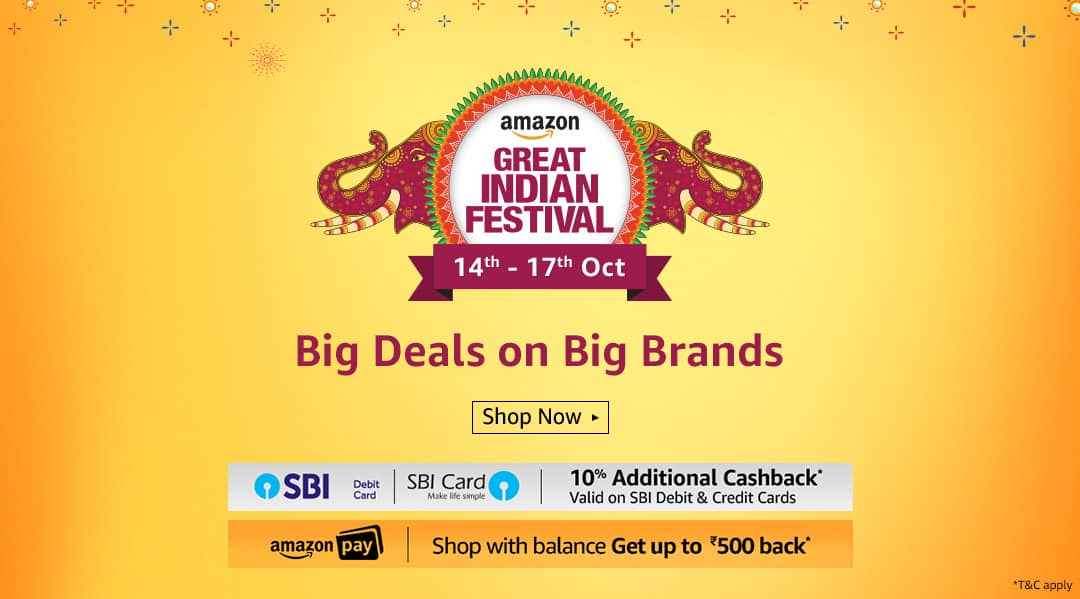 Amazon Great Indian Sale Offers and Discounts 14 to 17 October