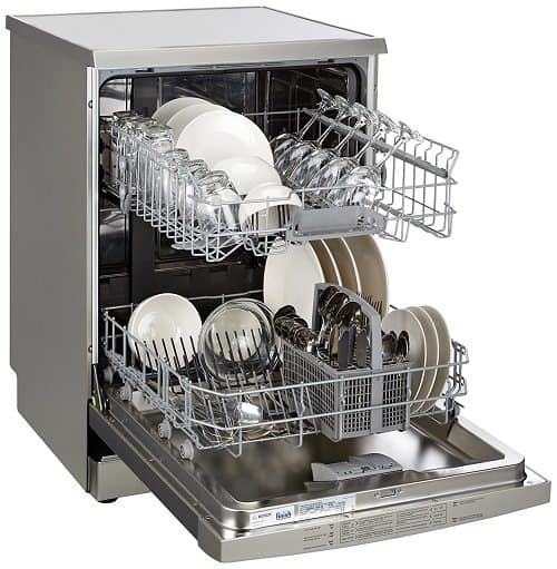 Bosch Free-Standing 12 Place Settings Dishwasher SMS60L18IN, Silver Inox