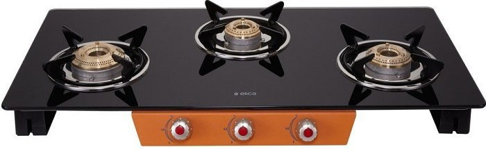 Elica Glass 3 Burner Gas Stove