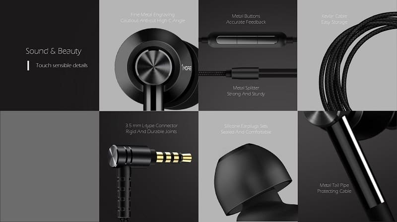 1more dual driver in ear headphone features