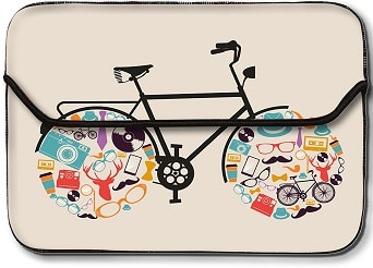 Theskinmantra Artistic Cycle laptop sleeve