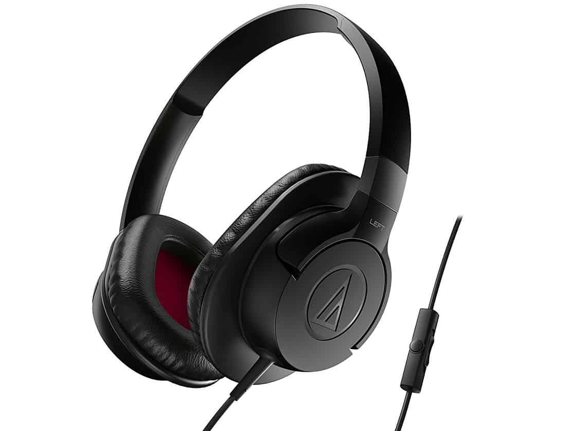 Audio-Technica ATH-AX1iSBK Over-Ear Headphones Built