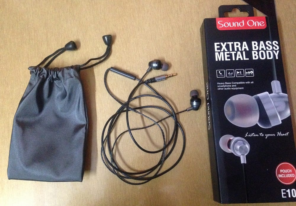 Sound One E10 Earphones With Mic Full Review