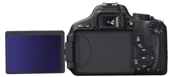 Canon EOS 600D 18MP Digital SLR Camera Screen
