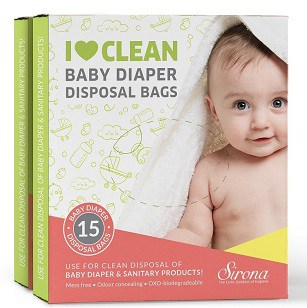 Sirona Baby Diapers and Sanitary Disposal Bag