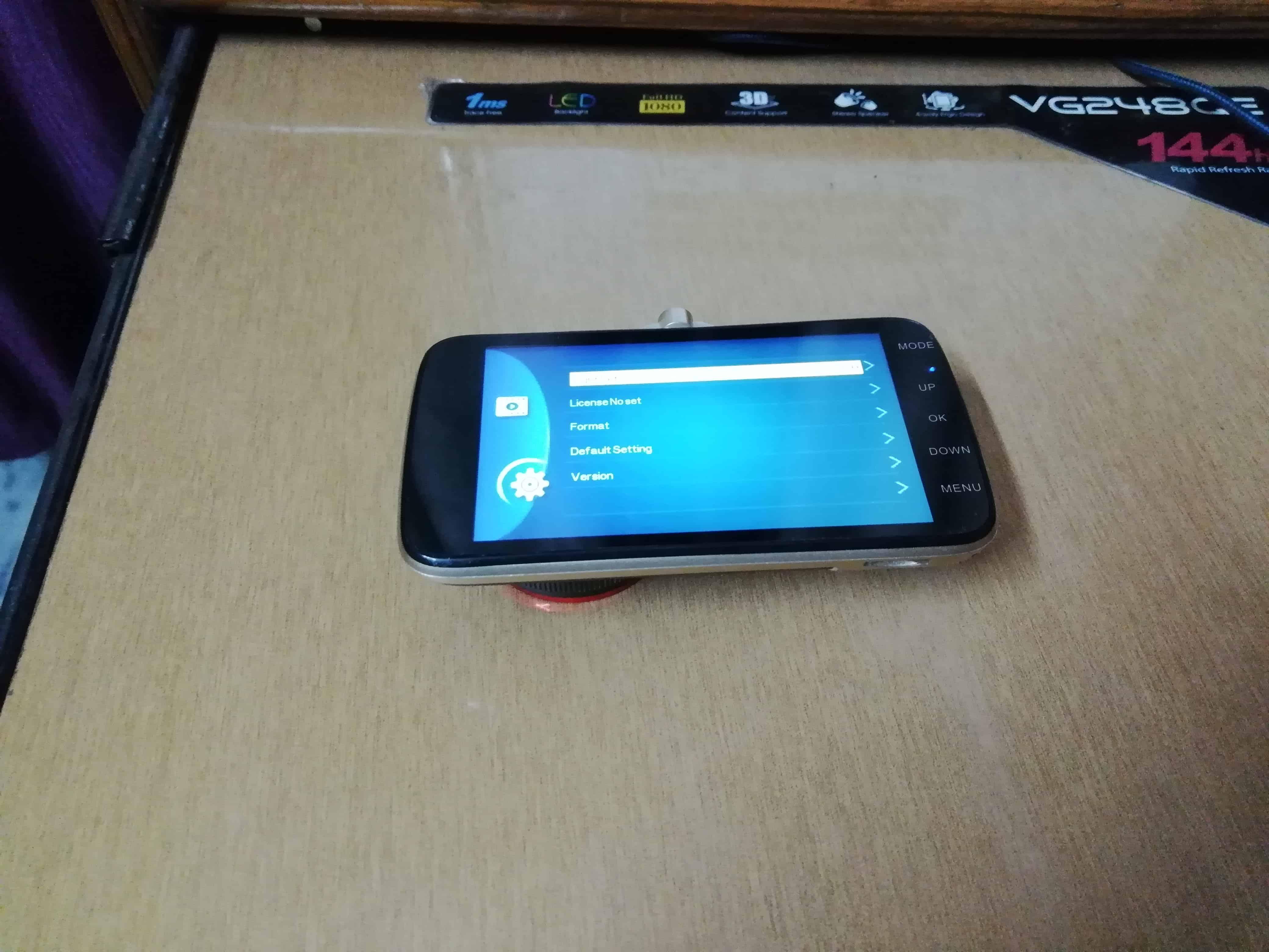 Novatek dash Cam Screen