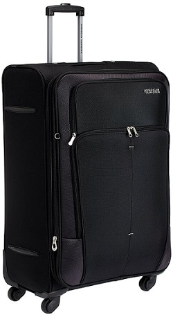 American Tourister Crete Polyester Black Softsided Check-in Luggage