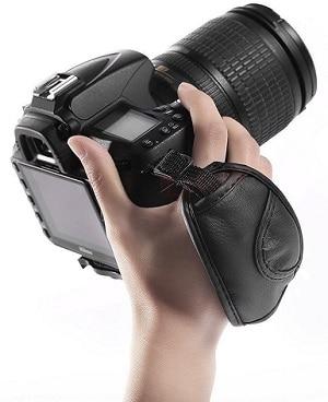 Generic Leather Adjustable Hand Grip Wrist Strap for DSLR Camera