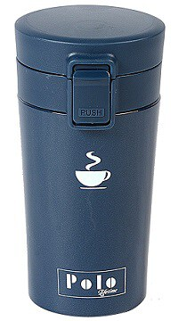 Polo Lifetime Double Walled Push Button Stainless Steel Vacuum Mug