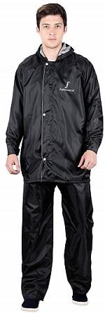 FabSeasons Men's Polyester Reversible Waterproof Raincoat