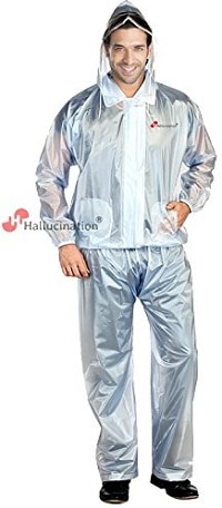 HALLUCINATION Biker's Rain PVC Coat Suit