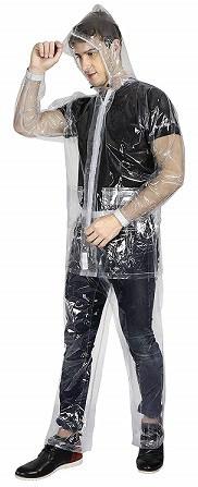 Versatyl Transparent 100% Water Proof Rain Coat