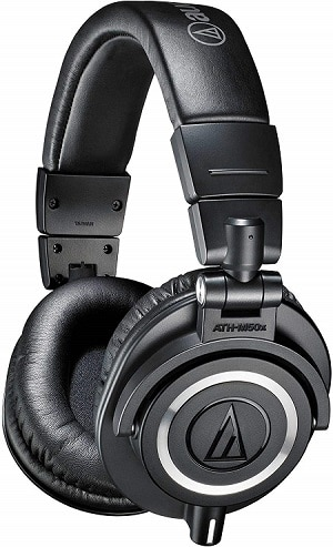 Audio-Technica ATH-M50x over-the-ear professional studio monitor headphones