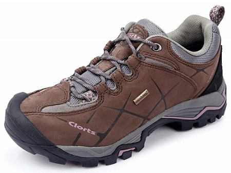 Clorts Womens Nubuck Waterproof Hiking Shoe Outdoor Trail Shoe