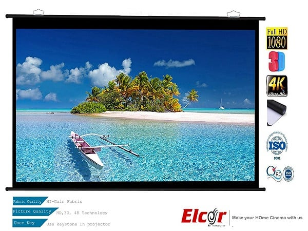 ELCOR Ultra HD and 3D Map Type Projector Screen