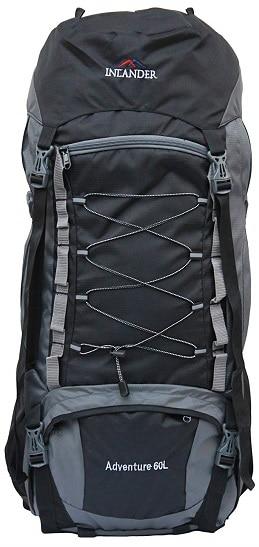 INLANDER 6001 Black 60L Rucksack Daypack Backpack Bag
