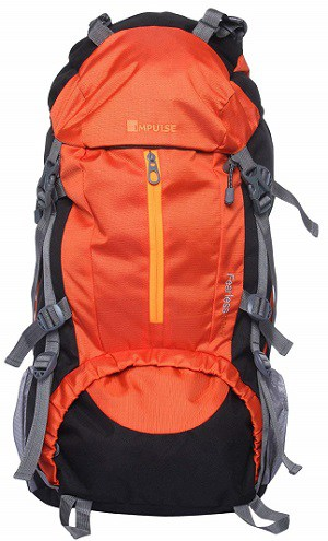Impulse 65 Ltrs Orange Trekking Backpack