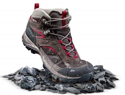Quechua MH 100 Mid Women's Waterproof Mountain Hiking Shoes - Brown