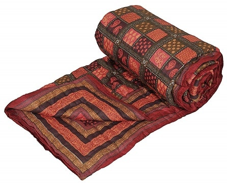 Handcraftd Double Bed Size Jaipuri Pure Cotton AC Razai
