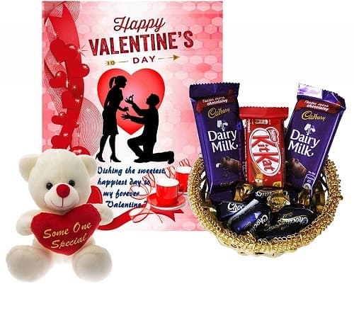 carrydreams exciting Valentine Chocolates with Teddy