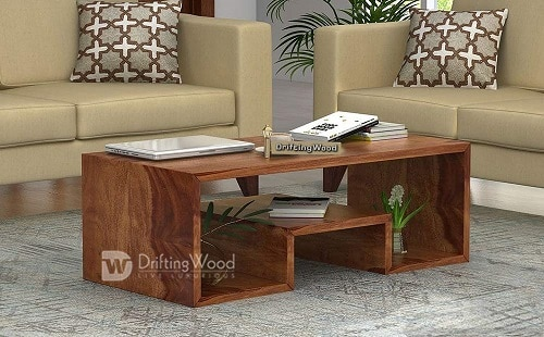 DriftingWood Sheesham Wood Liddle Coffee Table for Living Room