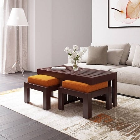 Flipkart Perfect Homes PureWood Sheesham Coffee Table