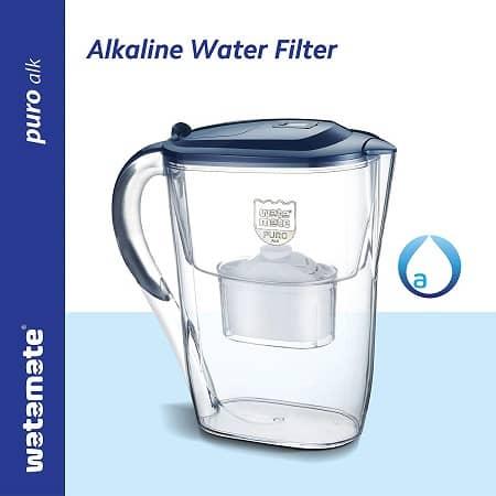 Watamate Puro Alk, 2.6 Litre Alkaline Water Filter ionizer antioxidant Pitcher