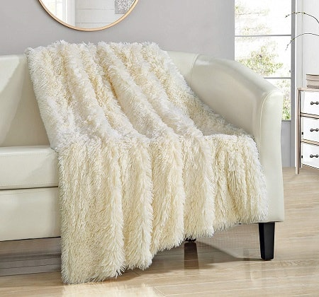 Chic Home Elana Shaggy Faux Fur Supersoft Ultra Plush Decorative Throw Blanket