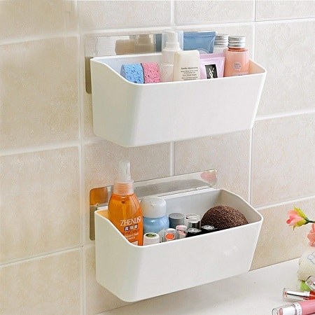 ORPIO (LABLE) Plastic Bathroom Kitchen Storage Organize Caddy Basket