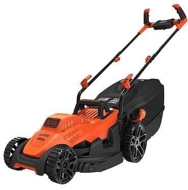 Black+Decker Electric 1400-Watt Lawn Mower with Bike Handle