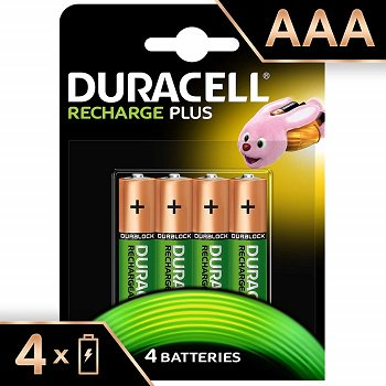 Duracell AAA 750mAh Rechargeable Batteries