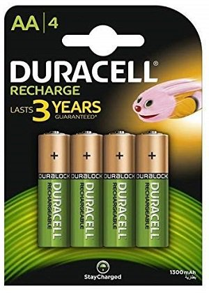 Duracell Plus 5000174 AA Rechargeable Batteries 1300 mAh