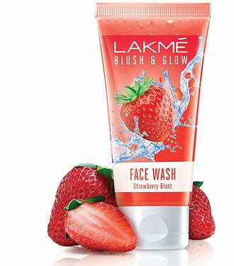 Lakme Blush and Glow Strawberry Gel Face Wash