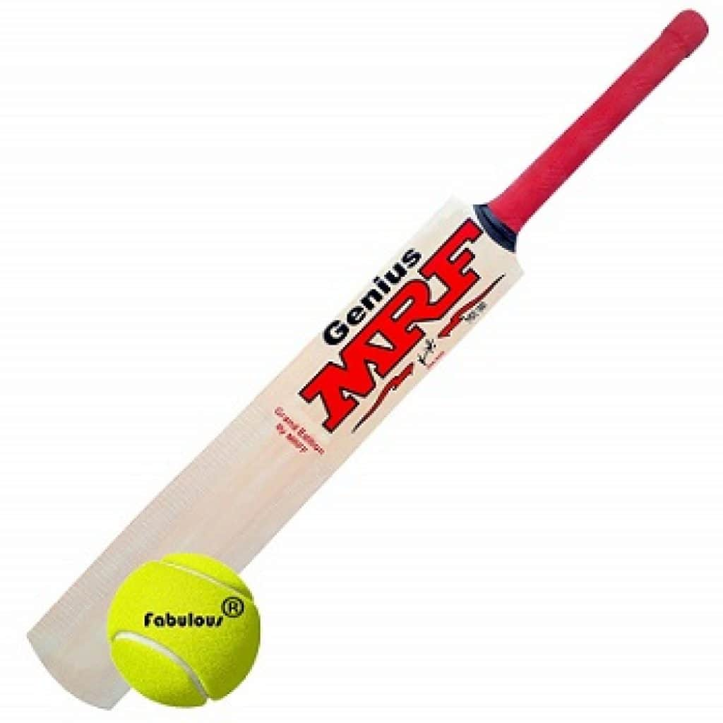 MRFF Genius Virat Kohli Popular Willow Cricket Bat with Ball