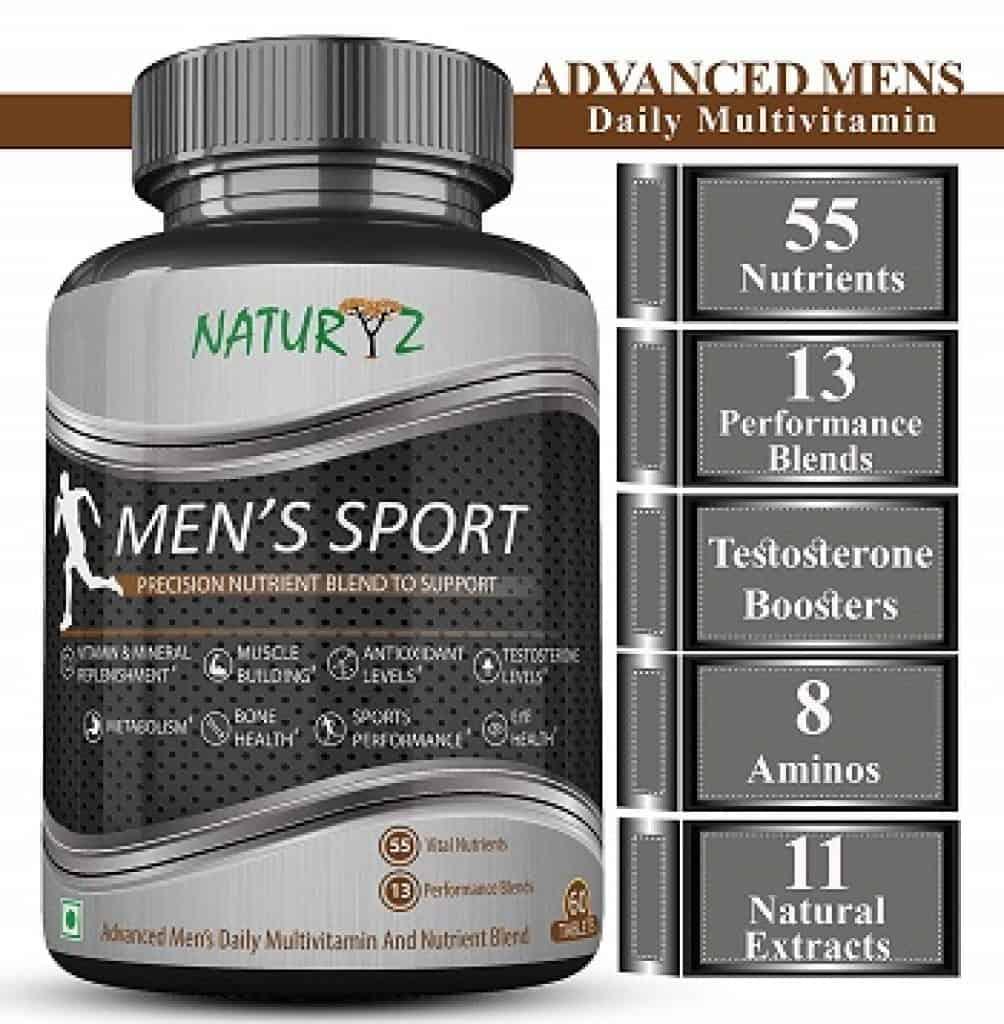 Naturyz Men's Sport Multivitamin With 55 Vital Nutrients & 13 Performance Blends Consisting