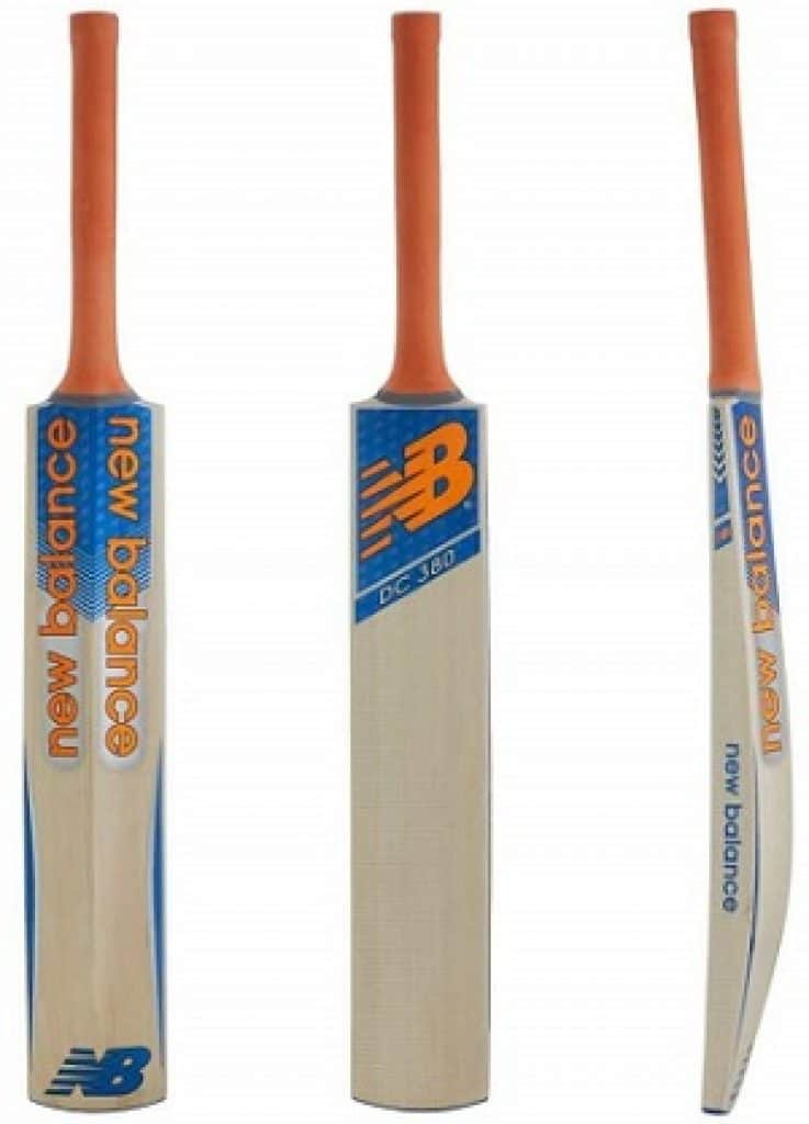 New Balance DC 380 Kashmir-Willow Cricket Bat, Short Handle
