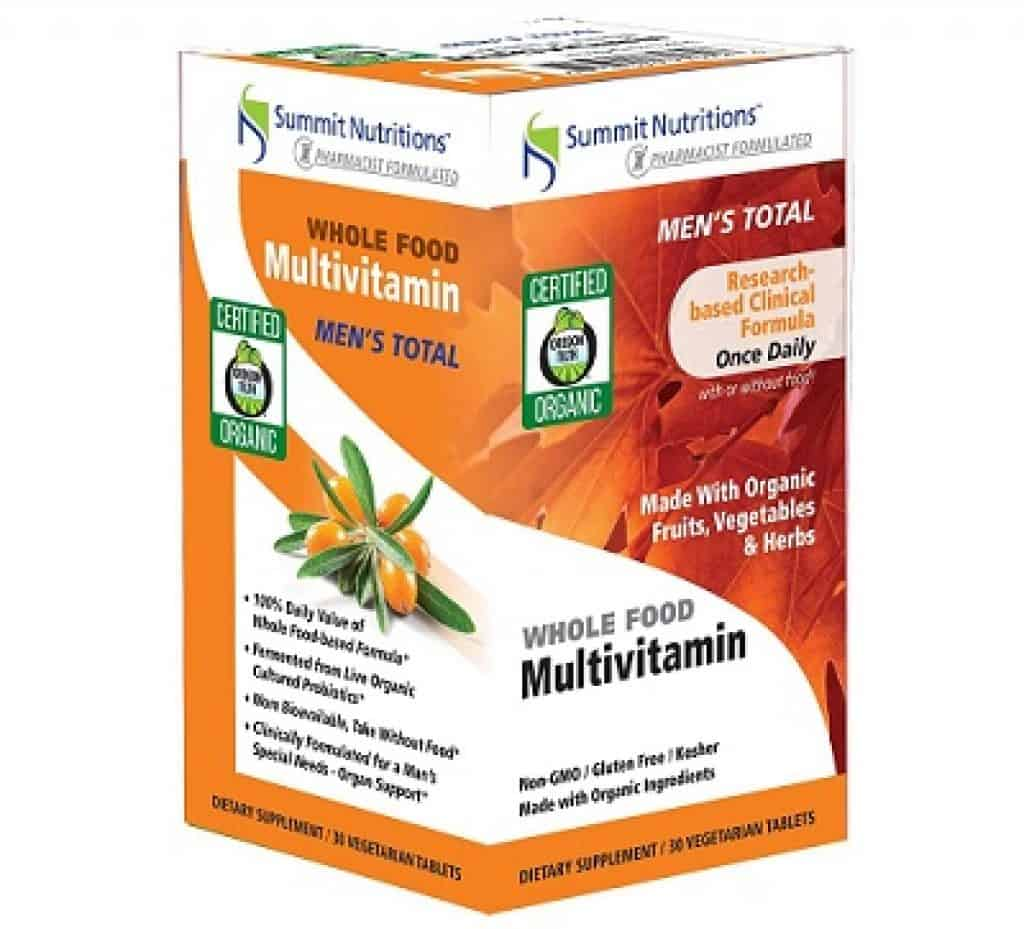 Summit Nutritions Organic Men's Total Whole Food Multivitamins Tablets