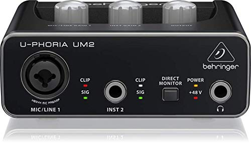 Behringer U-PHORIA UM2 2 x 2 Audio interfacce with USB 2.0