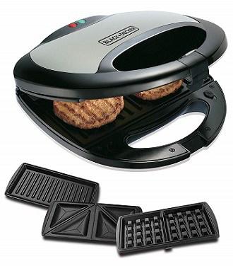 Black+Decker TS2090 750 Watt 3-in-1 Multiplate Sandwich