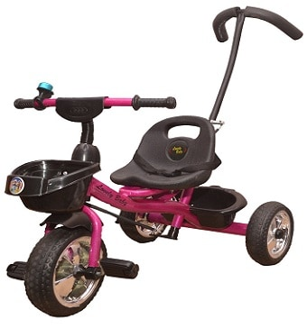 Lovely Baby Boy's and Girl's Steel Tricycle with Front Back Basket
