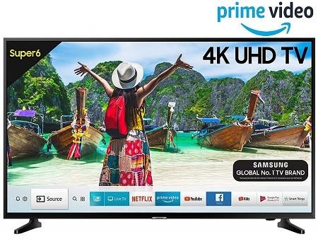 Samsung 108 cm (43 Inches) Super 6 Series 4K UHD LED Smart TV