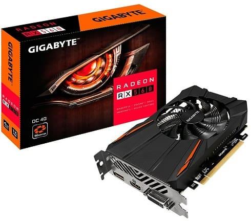 Gigabyte GV-RX560OC-4GD REV2.0 Radeon RX 560 OC 4GB Computer Graphics Cards