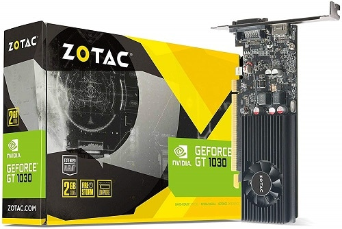 Zotac Nvidia GT 1030 2GB GDDR5 64-Bit DVI-D HDMI Retail Graphic card
