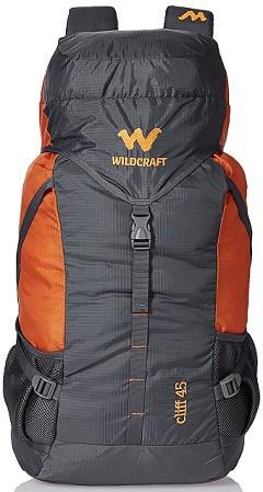 Wildcraft 45 Ltrs Grey and Orange Rucksack